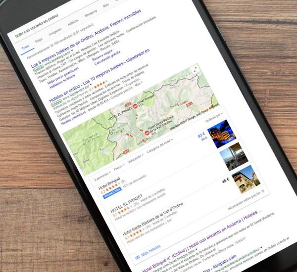 Posicionamiento web o SEO de los Hoteles Bringué en Andorra