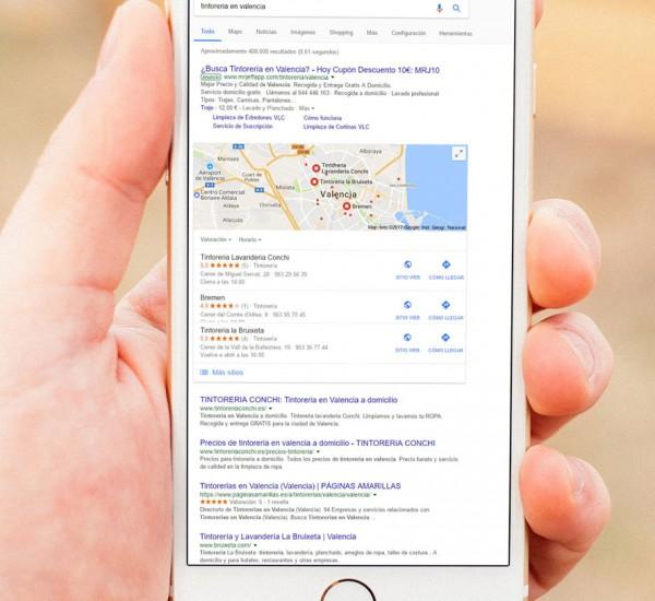 Tintorería La Bruixeta: mejorar el posicionamiento web o SEO local